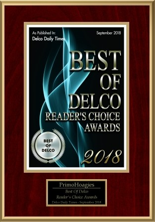 PrimoHoagies Awards 2018 - Best of Delco - Reader's Choice Awards